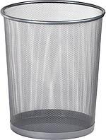 Корзина офисная для бумаг (Buromax, метал., серебро, 290x240x350мм, BM.6270-24)
