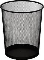 Корзина офисная для бумаг (Buromax, метал., черная, 290x240x350мм, BM.6270-01)