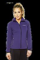 Толстовка женская на змейке мастерка спортивная Турецкая  фиолетовая
