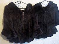 Коричневая женская норковая шаль, пончо из скандинавской вязанной норки