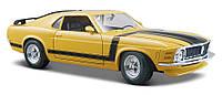 Автомодель 1:24 Ford Boss Mustang 1970 жёлтый MAISTO (31943 yellow)