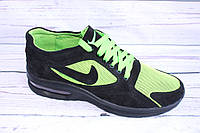 Летние мужские кроссовки, замша+сетка, А31, салатовый