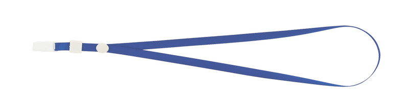 Шнурок для бейджа Buromax с клипом  синий BM.5426-02