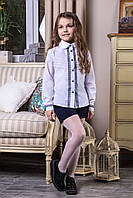 """Блуза школьная белая с кружевом """"Kristina"""""""