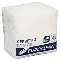 Салфетки бумажные BuroClean 240х240 400шт. белый 10100203