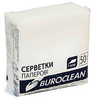 Салфетки бумажные BuroClean 240х240 50шт. белый 10100202