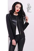 Пиджак из трикотажа женский Спич-1 с косой застежкой молнией