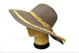 """Красивая женская шляпка """"Кристина MZ1517"""" кофе"""