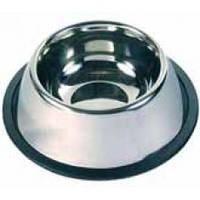Миска Трикси стальная, на резиновом кольце, для Спаниеля, 0,9л, 15см