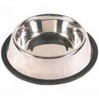 Миска Трикси стальная, на резиновом кольце, 1,75л, 20см
