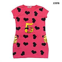 Летнее платье-туника для девочки. 128, 140, 152, 164 см, фото 1