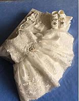 """Элитный подарочный набор на Выписку/Крестины для девочки """"Маленькая принцесса"""" кремовый - 62-68 рр."""