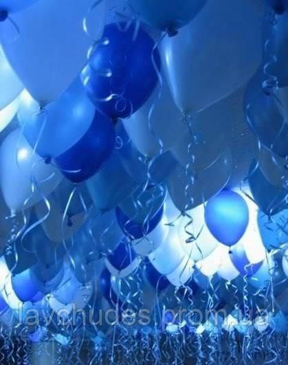 Голубые гелиевые шары на выпускной. Гелиевые шары Киев. Гелиевые шары  Троещина.