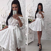 Летнее платье из прошвы