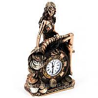 """Оригинальные настольные часы для камина. Статуэтка """"Фортуна"""""""