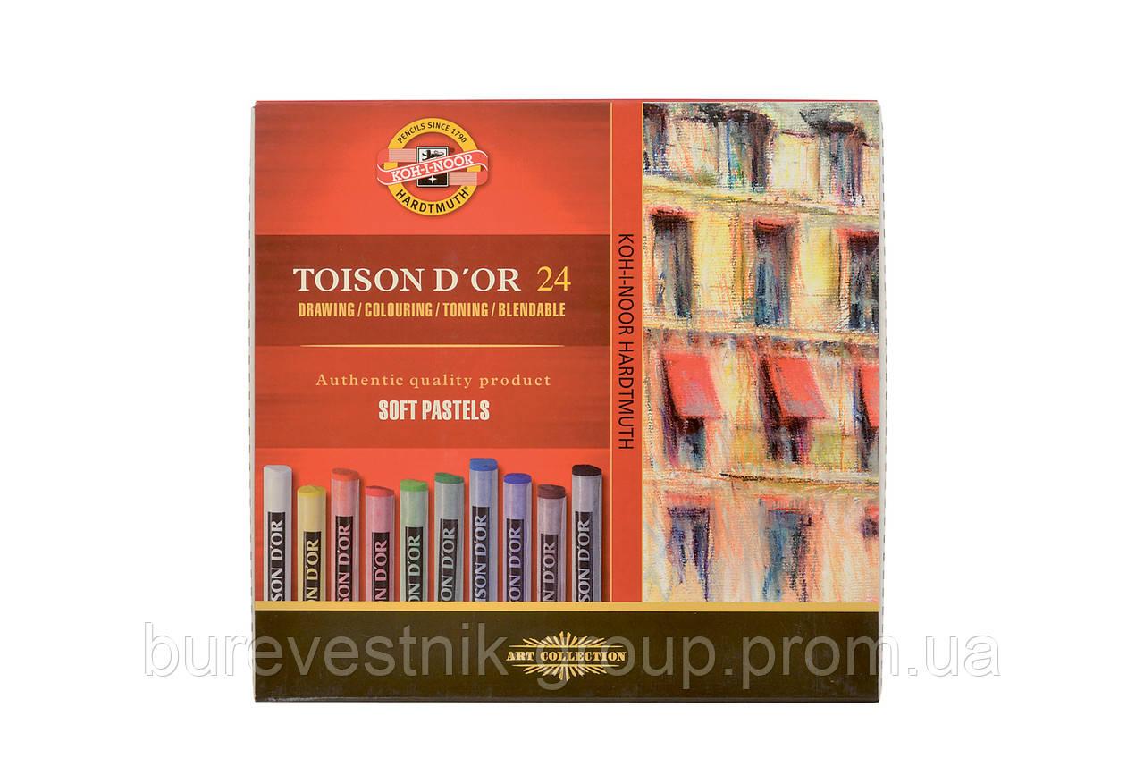 """Художественная сухая пастель KOH-I-NOOR """"Toison d'or"""" 24цв."""