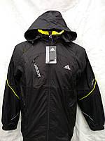 Костюм спортивный  черный Adidas с капюшоном