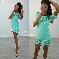 Женское модное платье - туничка (расцветки)
