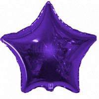 """Фольгированный шар Звезда 32"""" 82 см фиолетовая металлик"""