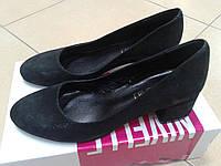 НОВИНКА! Женские классические туфли на невысоком каблуке NIVELLE  1590/4053 черн.кожа