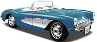 Автомодель 1:24 Chevrolet Corvette 1957 голубой MAISTO (31275 lt. blue)
