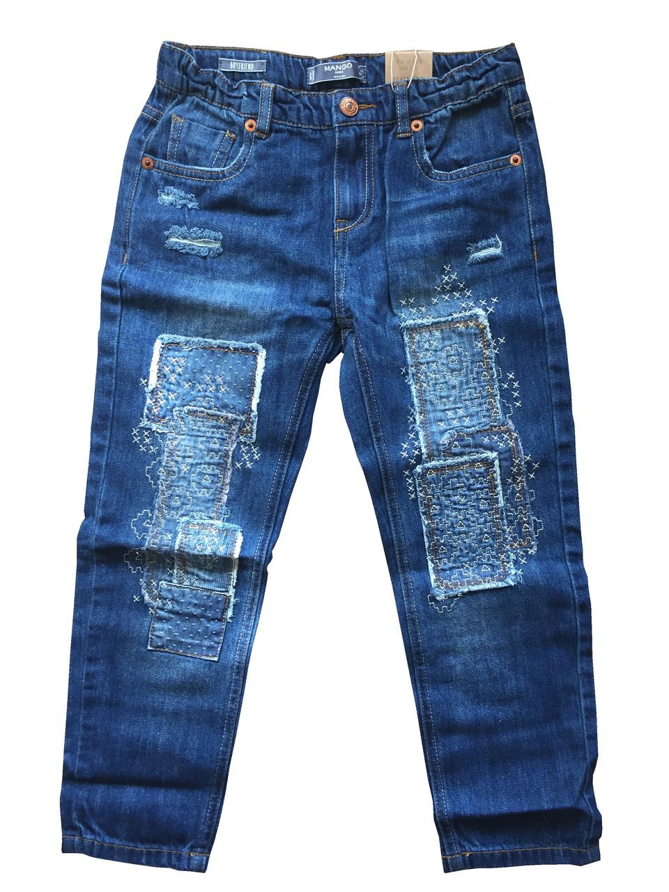 af60746f Стильные джинсы с латками на девочку от Mango Испания Размер 128 - Интернет- магазин
