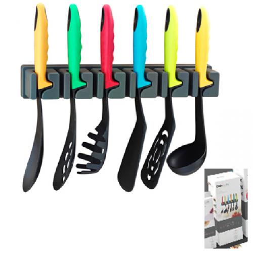 Набір кухонного приладдя з настінним кріпленням (7пр.) 34 х 14,5 х 11см