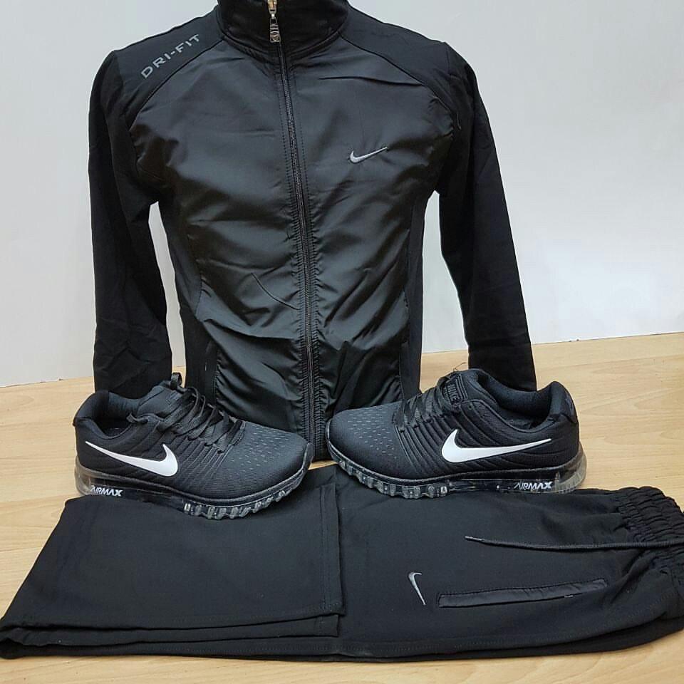 3518cb6d Мужской спортивный костюм черный с плащевкой купить в Днепре ...