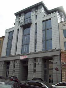 """г. Днепропетровск 2009 год. наша компания """"Стройиндустрия Днепр"""" победила в тендере на поставку и монтаж системы внешней молниезащиты и заземления нового здания по.ул. Комсомольская."""
