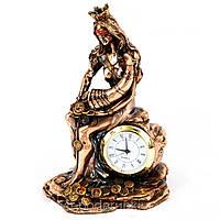 """Оригинальные настольные часы для камина. Статуэтка """"Фортуна"""" (13 см.)"""