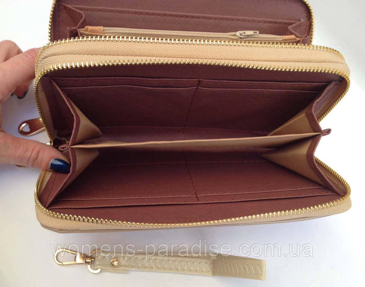 3cc401f1178a ... Женский кошелек Giuseppe Zanotti две молнии, отделение для телефона  бежевый цвет, ...