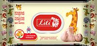 Влажные салфетки 120 шт с пластиковой крышкой(клапаном) для детей с экстрактом календулы и витамином Е