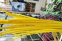Термоусадочная трубка,размер 1,5/0,75мм,цвет жёлтый,длина 1метр