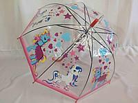 """Прозрачный детский зонтик с мультяшками №44 от фирмы """"mario"""""""