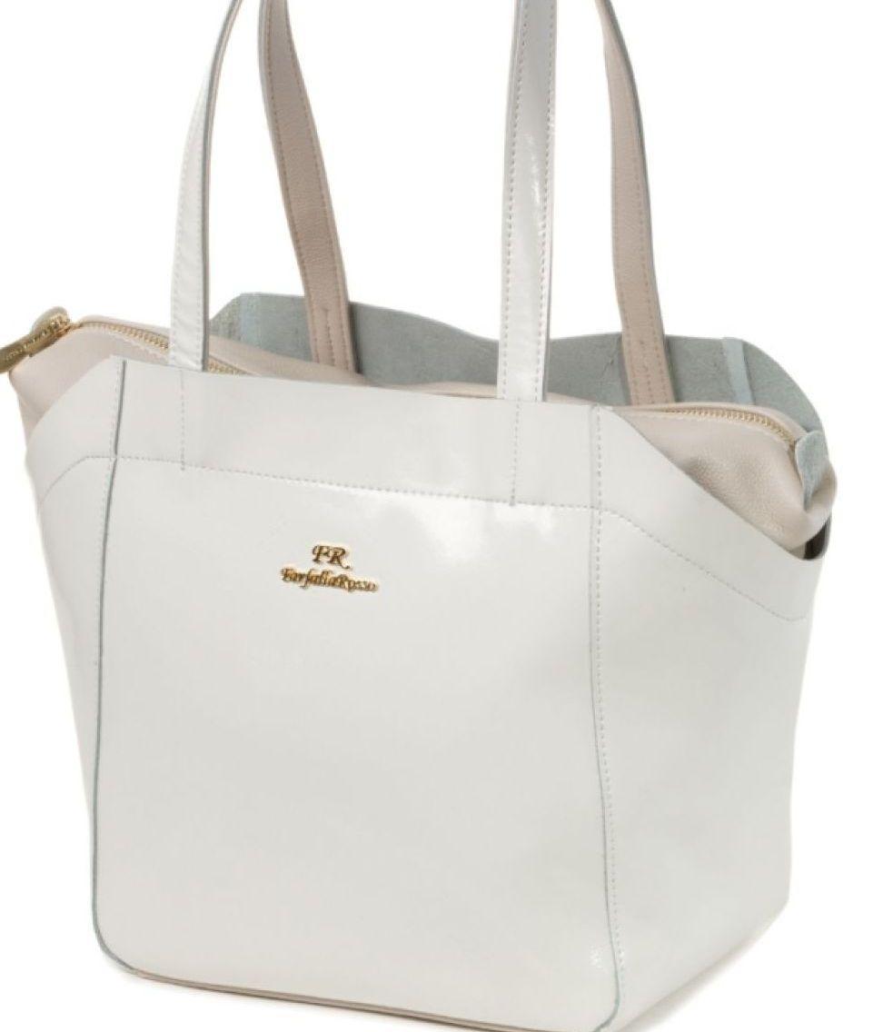 """Белая кожаная сумка с длинными ручками - Интернет-магазин стильных сумок """"NATAL I"""" в Полтаве"""