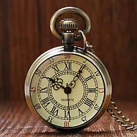 Часы карманные кварцевые на цепочке