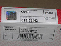 Кольца поршневые OPEL 87,00 2,0/2,2 C20NE/X20XEV (пр-во Mahle) 011 58 N2