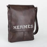 Сумка мужская глянец с вышивкой L / сумка на плечо