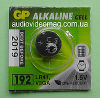 Батарейка щелочная GP G3 192 LR41 Alkaline 1.5 V  для часов
