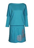 Женское платье-мышь больших размеров из качественного трикотажа, с оригинальным принтом от 46 до 64 размера.