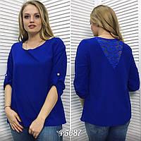 Женская блуза, ткань креп-шифон, размер 48-50, 52-54. Производство Турция. В наличии 3 цвета