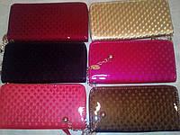 Женский кошелек на одну молнию,глянцевый 3 D,цвета в ассортименте!
