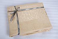Бамбуковая простынь 200х220 Cestepe Bamboo  Cicek бежевая.