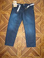 Детские коттоновые джинсы + ремень для мальчика 5-8 лет Турция