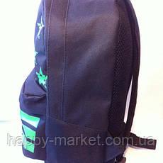 Ранец Рюкзак  для подростка Городской Nike Со Звездами  Wallaby Черный 17-8101-4, фото 3