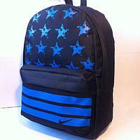 Ранец Рюкзак  для подростка Городской Nike Со Звездами  Wallaby Черный 17-8101-3