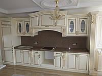 Кухня из массива ольхи