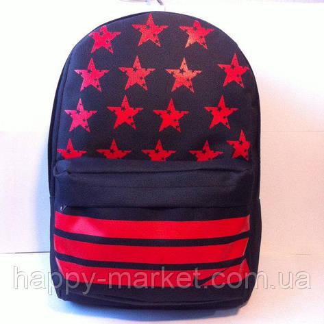 Ранец Рюкзак  для подростка Городской Nike Со Звездами  Wallaby Черный 17-8101-4, фото 2