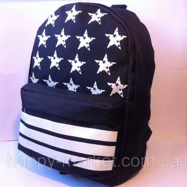 Ранец Рюкзак  для подростка Городской Nike Со Звездами  Wallaby Черный 17-8101-5