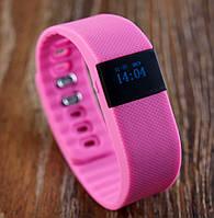 Фитнес браслет Bluetooth TW64. Влагозащищенный! Шагомер, Счетчик калорий, Часы, Розовый